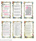 Prayer Verse Card In Wallet Various Six Titles Irish Blessing Motorist's Prayer