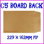 C5 A5 BOARD BACK HARD BACKED ENVELOPES - 229x162mm PIP