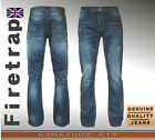 GENUINE FIRETRAP MENS JEANS DESTROYED RIPPED DISTRESSED STRAIGHT WAIST 32-40