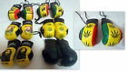 Leather Look 9cm Pair Of Boxing Gloves Bob Marley Weed Leaf Car Van Accessory