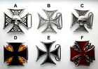 Iron Cross Belt Buckles New Six Styles Punk Rock Emo Goth Biker Free Postage