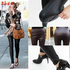 Hot Fashion Women Stretch High Waist Faux Synthetic leather Tight Leggings Pants