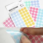Index Point Translucent Diary Deco Circle Sticker 12Sheet_Check/Stripe/Dot/Solid