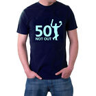 50 Not Out T-shirt. Cricket. Birthday Tee or Hoodie:The Generic Logo Company
