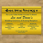 Golden Ticket Personalised Day & Evening Wedding Invitations + Envelopes Style 1