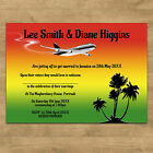 Personalised Day & Evening Wedding Invitations Married Abroad Various Colours