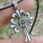 Fleur-de-lis/Swastika/Unity Cross of christ Pendant/Charm/Amulet/Key Chain