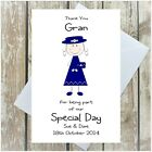 PERSONALISED GRAN WEDDING DAY THANK YOU CARD GRANNY GRANDMA NAN NANNY NANA MULTI