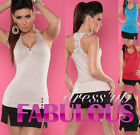 NEW SEXY Size 10 M WOMEN'S SINGLET TOPS CASUAL PARTY CLUBBING EVERYDAY SHIRT