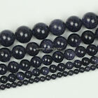 "Natural Blue Sand Gemstone Round Loose Beads 15.5"" 4mm 6mm 8mm 10mm 12mm SL43"
