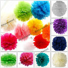 "3X Tissue Paper Color 4"" 8"" 12"" pom pom Flowers Wedding Party Craft Decoration"