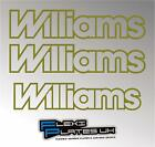 x3 RENAULT CLIO 16V WILLIAMS REPLACEMENT STICKERS DECALS SIDE TAILGATE - ANY COL