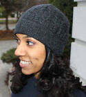 Women's Merino Wool & Cashmere Cable Knit Winter Hat - MADE IN ITALY!