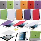 Apple iPad Slim Magnetic Smart Cover Case inc. back For iPad 4 + FREE Stylus Pen