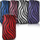 Case cover for Apple iphone 5s, PU Leather Pull tab Pouch Zebra Design - (L)