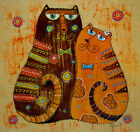 "Needlepoint canvas ""Cats in LOVE"""