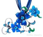 Elegant Gift Flower crystal Pendant Choker Necklace Chain Jewelry WOMAN'S