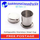 2 x Stainless Steel Collapsable Cups