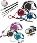 FLEXI Tape & Cord retractable dog leads, extending leash, 8 to 60kg, 3 to 8m