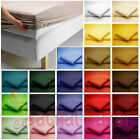 Luxury 100% Cotton Percale 200 Thread Count Fitted Sheet Single Double King