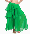 E GREEN | Women Lady Hot Spiral Skirts 3 Layer Circle Belly Dance Costume Boho