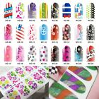 12pcs Glitter Nail Art Foils Patch Stickers Adhesive Decals Manicure Tip Wrap