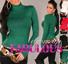 Sexy Womens Turtleneck Jumper Sweater Knit Top AU SIZE 10 12 8 (US 4 6 8 ) S M L