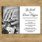 Personalised Day Evening Wedding Invitations Invites & Envelopes 2 Rings Design