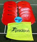 PRECISION TRAINING RED FLAT ROUND MARKERS (10 per pack with carry bag)