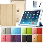 Ultra Slim Tri-Fold Smart Case for Apple iPad Air Sleep Wake w/ Clear Back Cover
