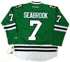 BRENT SEABROOK CHICAGO BLACKHAWKS GREEN ST PATRICKS DAY REEBOK JERSEY