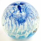 GLOW IN DARK FISH+UNDER WATER ART PIECE GLASS WORK GLOBE PAPERWEIGHT,FIGURINE
