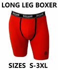 1 x Mens Red Long Leg Boxer Shorts Branded Bronson Cotton S-3XL Trunks FREE P&H