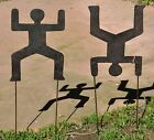 Garden Art PEOPLE RIGHT SIDE UP UPSIDE DOWN Hand Made Recycled Metal ART YARD