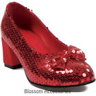 S26 Judy Dorothy Wizard of OZ Sequin Red Ruby Women Ladies Adult Shoes