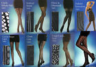 Black Fashion tights by Silky Lace or Net or Striped or Fishnet Medium Sized
