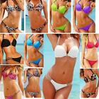 HOT Women Push Up Bikini Sets Bandeau Halter Swimwear Swimsuit Bathing Suit SML