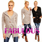 NEW SEXY WOMEN'S CARDIGAN JUMPER JACKET HOT LONG KNITTED COAT Size 10 M Medium