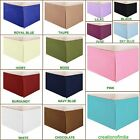 SPLIT CORNER BOX PLEATED BED SKIRT SOLID 100% COTTON 1000TC 14 COLORS ALL SIZES