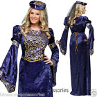 C934FW Renaissance Maiden Purple Medieval Deluxe Women Halloween Costume Outfit