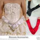 7092 Black White Red Satin Pearl Gloves Evening Party Bridal Costume Burlesque