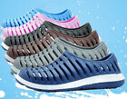 Men's Candy Color Hollow Rubber Beach Sandals Flats Slip on loafer Sports Shoes