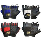 WEIGHT LIFTING LEATHER PADDED GLOVES TRAINING  FITNESS BODY BUILDING GYM - 305