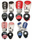 Boxing Curved Focus Pads With Boxing Gloves Hook and Jab Punch Bag Kick MMA RAX
