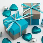 Grey Linea & Turquoise Square Boxes & Lids Luxury Wedding Favour Party Boxes