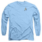 Star Trek TV Series Spock & McCoy Science Uniform Adult Long Sleeve T-Shirt