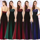 Women US Long Wedding Bridesmaid Party Prom Dresses Evening Formal Gowns 08070