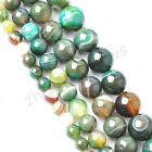 Apple Green Agate Gemstone Round Loose Spacer Beads 16'' Strand 4 6 8 10 12mm