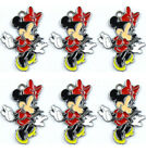 Wholesale Minnie Mouse Enamel Metal Charms Pendant Earrings Jewelry Making H147