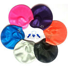 Silicone Stretch Swimming Hair Cap Hat With Ear Cup + Earplugs & Nose Clip Set